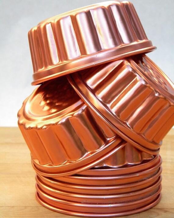 Bright Shiny Little Vintage Copper Tone Jello Molds