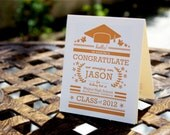 Modern and Clean Custom Graduation Greeting Card