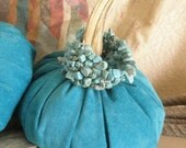 Turquoise Genuine Leather Pumpkin