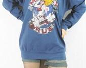 MOTLEY CRUE Girls Girls Girls World Tour Rock Music T-Shirt Blue Long Sleeve Sweater Unisex Shirt Women Shirt Men Shirt Rock T-Shirt Size M