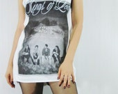 KINGS OF LEON Caleb Followill Garage Rock Alternative Rock Women Tank Top Vest Tunic Tank Shirt White Shirt Sleeveless Screen Print Size S M