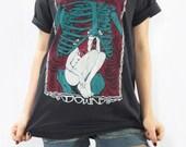 DOWN Hellfest French Music Festival Skull Death Zombie Bone X-Rays Black T-Shirt Women Men Unisex Shirt Short Sleeve Tee Shirt Size M