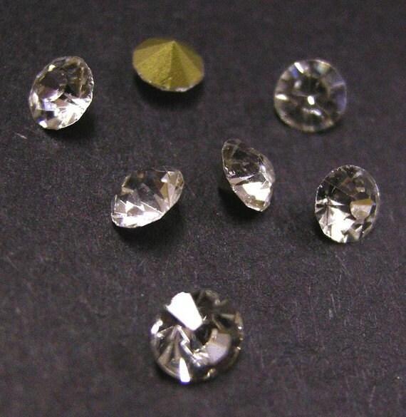 144pc Machine Cut Pointed back Foil Rhinestone 1.5mm crystal clear-2869Y