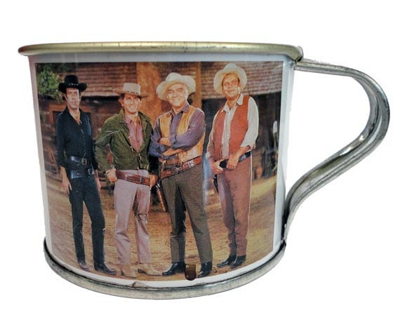 Vintage PONDEROSA RANCH Tin Cup