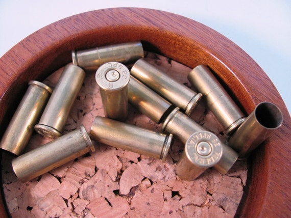 Empty Bullet Casings Shell Brass Bullets 38 Caliber - Lot of 12 at Hendyfinds