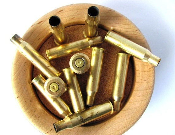 Empty Upcycled Recycled Bullet Casings Shell Brass Bullets 55 Caliber - Lot of 12 at Hendyfinds