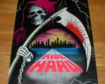 1988 Ride Hard-Grim Reaper-Poster From Funky Enterprises