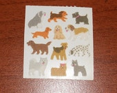 Vintage Fuzzy Sandylion Sticker Dogs