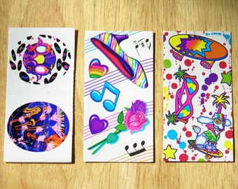 Vintage Lisa Frank Stickers Heals, Music Notes, and Rockin' Poodle