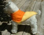 Dog Jacket  Fleece   -   Dog Clothing & Accessories   -   Orange/Yellow Fleece Canine Jacket        ............           Medium