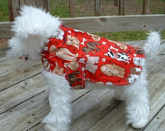 Dog Jacket MEDIUM-     Red Dog Jacket    -    Dog Clothing & Accessories     -    Red Cotton  Jacket    -      Canine Accessories