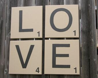 "Scrabble ""LOVE""  letters"