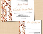 Fall Streamers DIY Printable Wedding Invitations and RSVPs - Instant Download