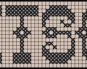 """Cross Stitch Alphabet PDF Pattern -a Grannie Panties exclusive font """"Kitsch Bitsch"""""""