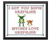 Gremlins Gizmo and Stripe - Grannie Panties original PDF counted cross stitch pattern