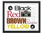 Rappers Delight Sampler - Black white red brown purple yellow - PDF counted cross stitch pattern 8X10