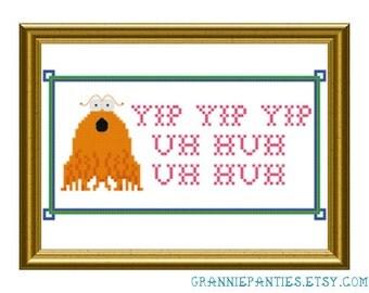 Sesame Street Yip Yip Uh huh uh huh - PDF counted cross stitch pattern 5X7