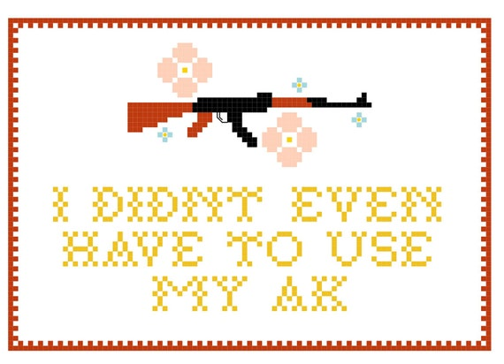 Ice Cube quote Cross Stitch PDF pattern - I didn't even have to use my AK