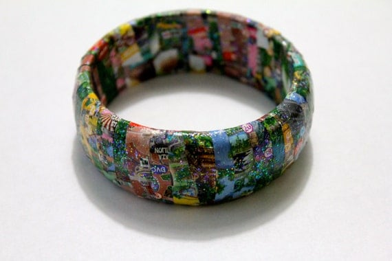 disneyland map bangle bracelet