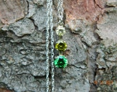 Green Ombre Drop Necklace