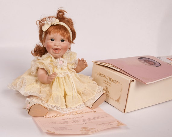 Vintage Lee Middleton Original Baby Doll 1991 Missy Buttercup Original Box Hand Signed Red Hair Collectible Doll