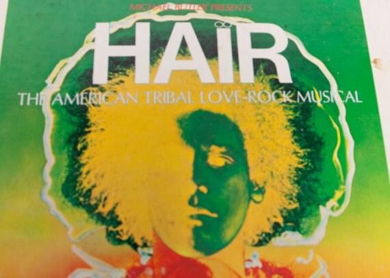 Vintage HAIR Album The American Tribal Love-Rock Musical Record Album 1968 Rca Victor
