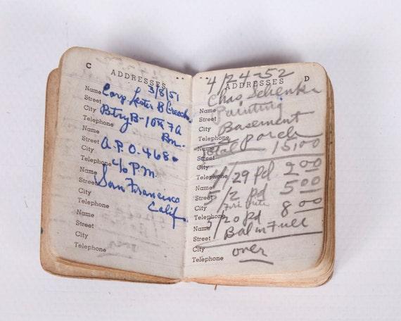 Vintage Address Book 1940s Red