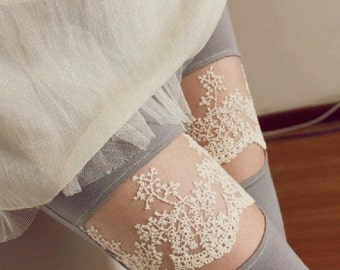 2 Yards Cotton Lace,Wave And Branches Pattern,Embroidered Dress Lace,Fabric,Embroidery,Wedding,Bridal,Cotton(DL18)