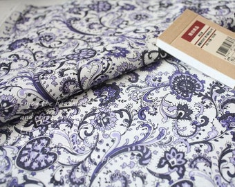 Half meter Cotton Fabric,Craft,American Style,Printed Floral In Purple and Blue,Beautiful Flower Pattern,diy,fabric (S17)