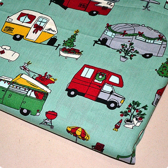 Big Sale--Half Yard Cotton Fabric for craft, Retro Bus,Truck, Vehicle,Green Base Color,Chlidren Fabric  (QT5)