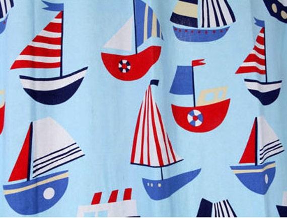 Big Sale--Half Yard Cotton Canvas Fabric for craft, Sailing Boat,Sea,Ocean,Flag,Buoy,Anchor,Ship,Pattern,fabric  (QT23)