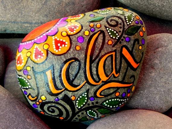 Relax.../ Painted Stone/ Sandi Pike Foundas / Cape Cod