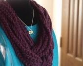 Aubergine Purple Rope infinity scarf