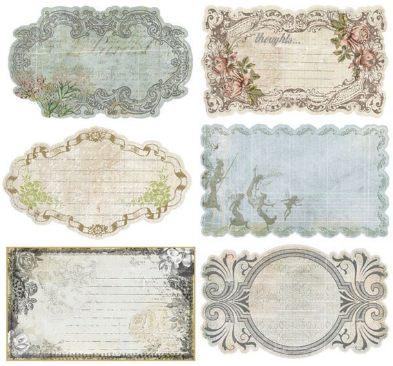 Nature Garden Journaling Notecards stationary set by Prima Marketing