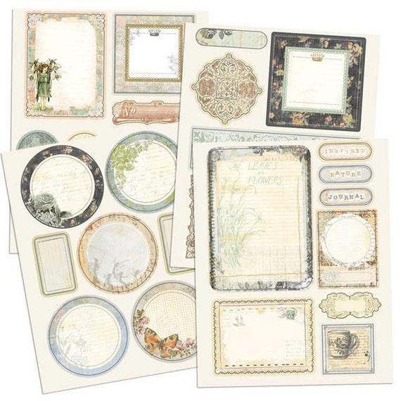 Nature Garden Scrapbook Journaling Chipboard Embellishment Pieces by Jodie Lee for Prima Marketing