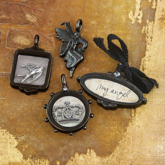 Nature Garden Vintage Metal Charms or Trinkets jewelry by Prima Marketing