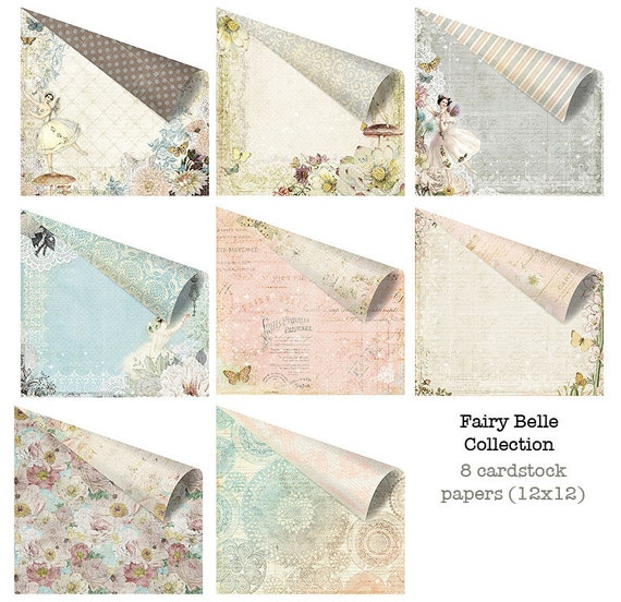 Fairy Belle 12x12 Paper Set of Cardstock Papers for Scrapbooking by Jodie Lee for Prima Marketing