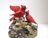 Music Box With Two Red Cardinal On Top c.1960