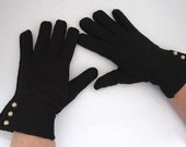 Ladies Short Black Dress Gloves - myabbiesattic