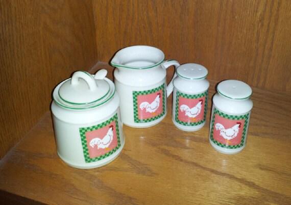 Made in Japan Creamer. Sugar Bowl, Salt & Pepper Shaker  c1960