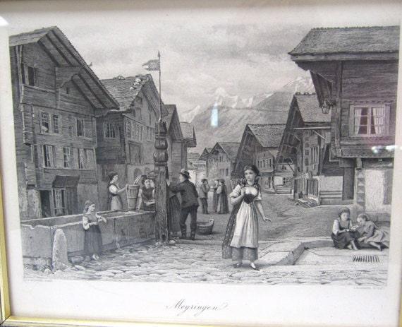 Meyringen Sweden in The Late 1800s Vintage Black and White Photo By G. G. Kilburne c1878