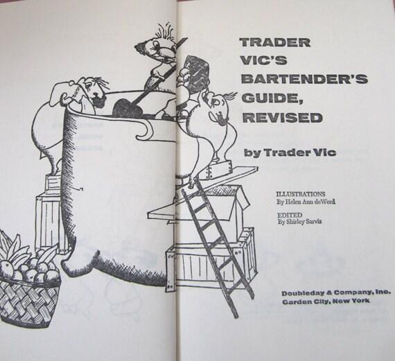 On Sale 50% Off TRADER VIC'S Bartender's Guide .. Revised