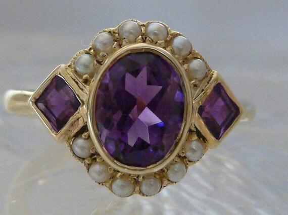 amethyst ring vintage - photo #28