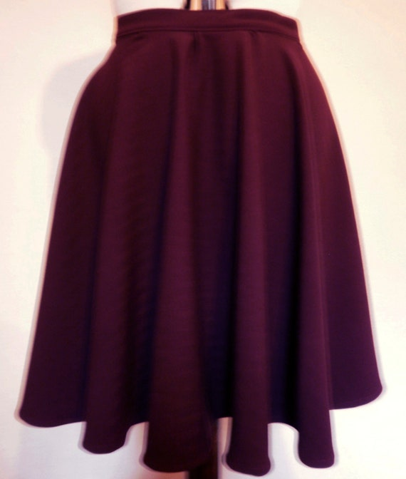 Purple full circle skirt