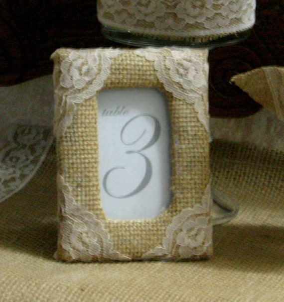 Shabby Chic Wedding Table Decorations: Items Similar To Burlap Wedding Table Decorations, Burlap