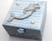 Mermaid Jewellery Box, for Trinkets, Keepsakes, Jewelry, Altered Art