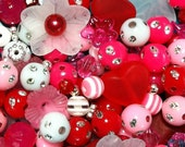 200 ct Valentines Day Bead Assortment 17 Type Holiday Acrylic Bead Mix (BX-HEART)