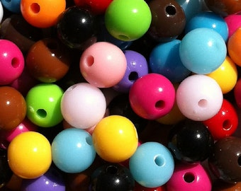 500 ct Gumball Beads 8mm Wholesale Resin Beads - You Choose Colors (SBGB8-1000)