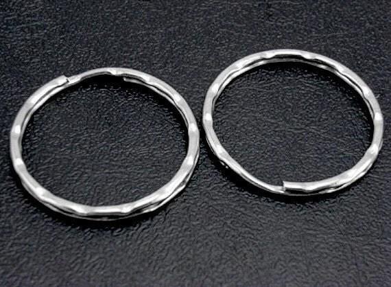 25 ct Platinum Key Rings 25mm Double Loop Split Ring (FDKRG25-S)