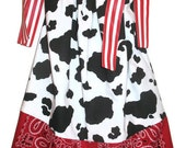 Cowgirl Pillowcase dress Jessie Inspired - Size 3 months-4T